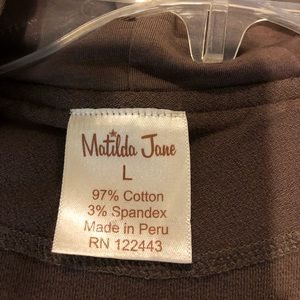 Matilda Jane Tops - Matilda Jane Brown Cardi size large